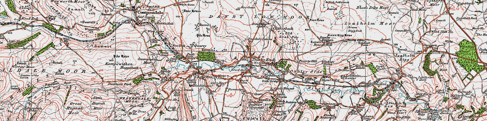 Old map of Ainthorpe in 1925