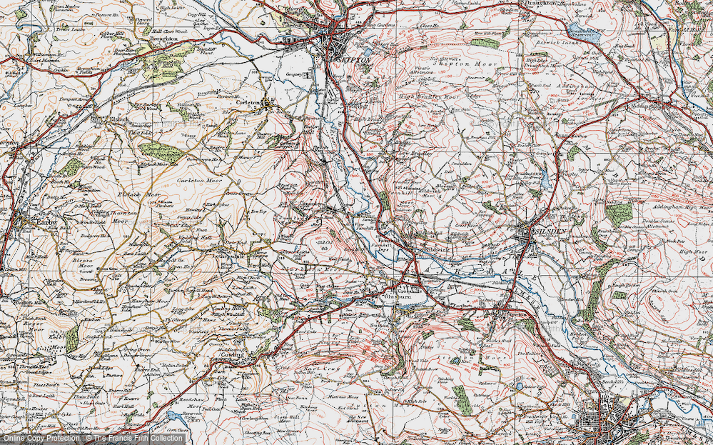 Old Map of Aire View, 1925 in 1925