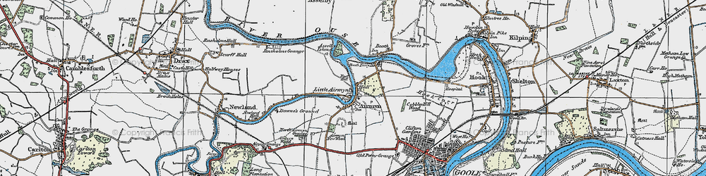 Old map of Airmyn in 1924