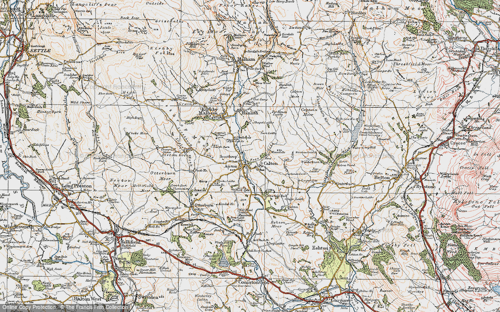 Old Map of Airton, 1924 in 1924