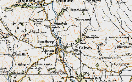 Old map of Airton in 1924