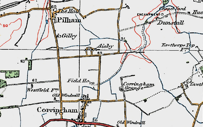 Old map of Aisby in 1923