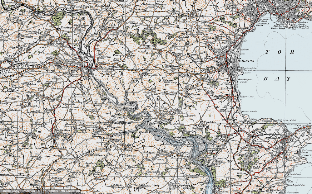 Old Map of Aish, 1919 in 1919