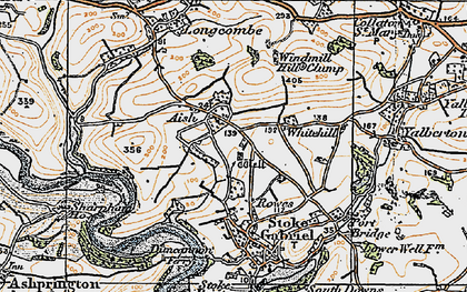 Old map of Windmill Hill Clump in 1919