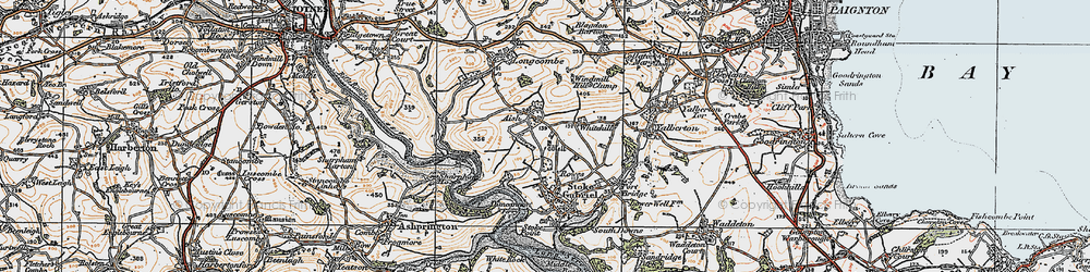 Old map of Whitehill in 1919