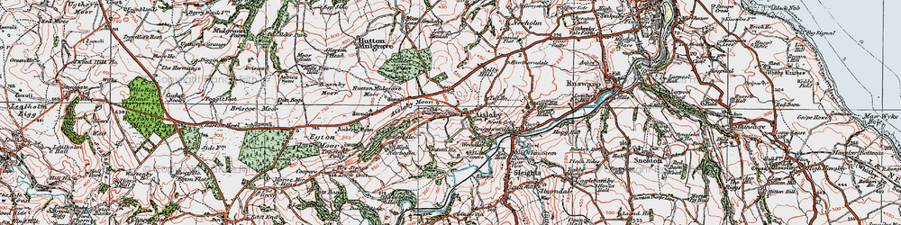 Old map of Aislaby Moor in 1925