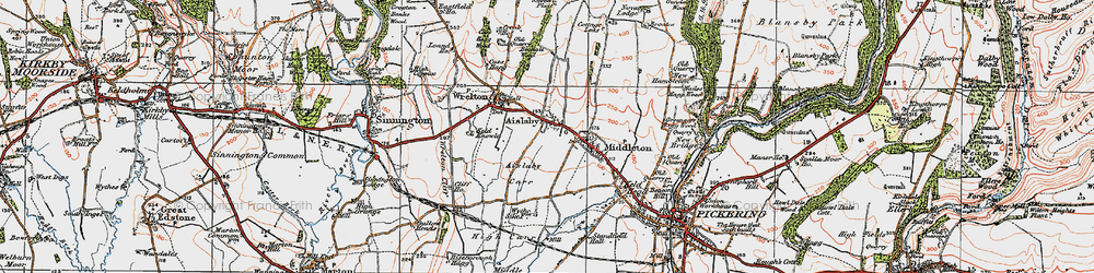Old map of Aislaby in 1925