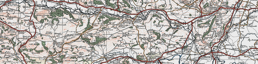 Old map of Aithnen in 1921