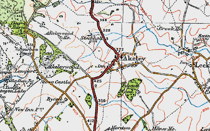 Old map of Akeley in 1919