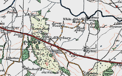 Old map of White Abbey in 1921