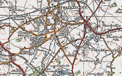 Old map of Albert Village in 1921