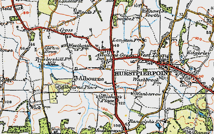 Old map of Albourne in 1920