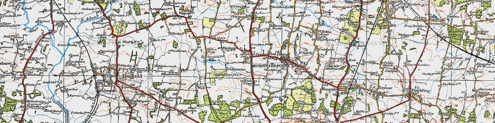 Old map of Albourne Green in 1920