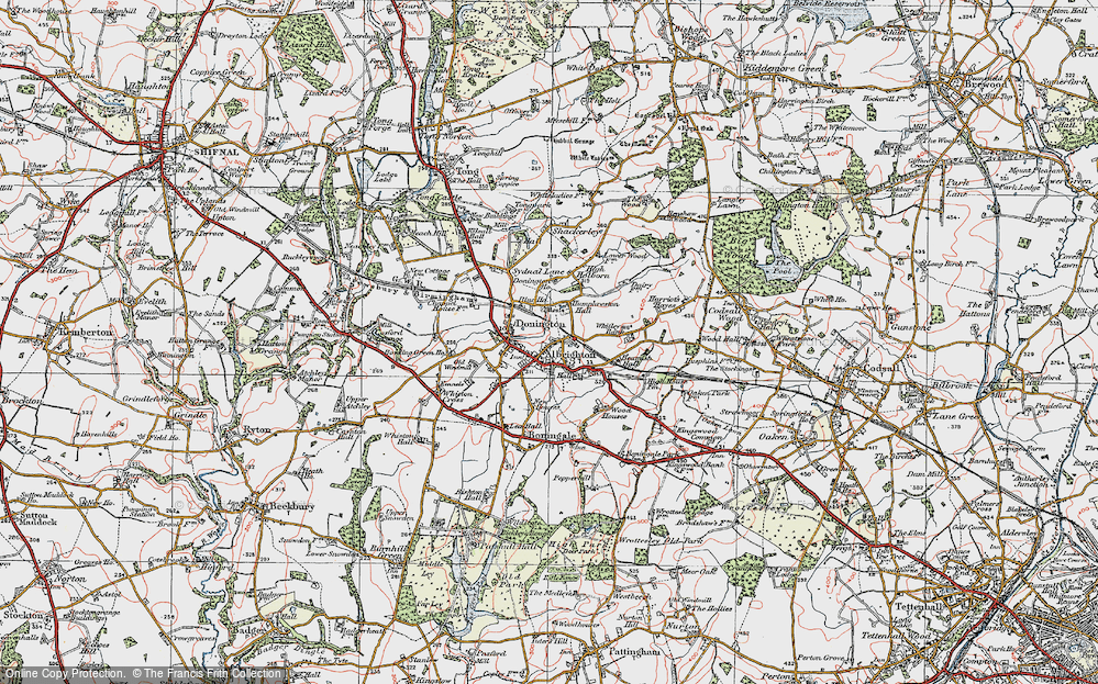 Old Map of Albrighton, 1921 in 1921