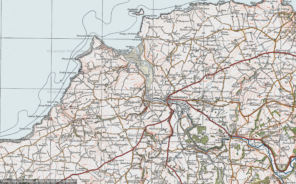 Old Map of Albro Castle, 1923 in 1923