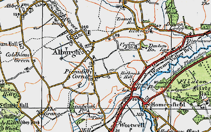 Old map of Alburgh in 1921