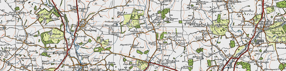 Old map of Albury in 1919