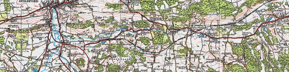 Old map of Tilling Bourne in 1920