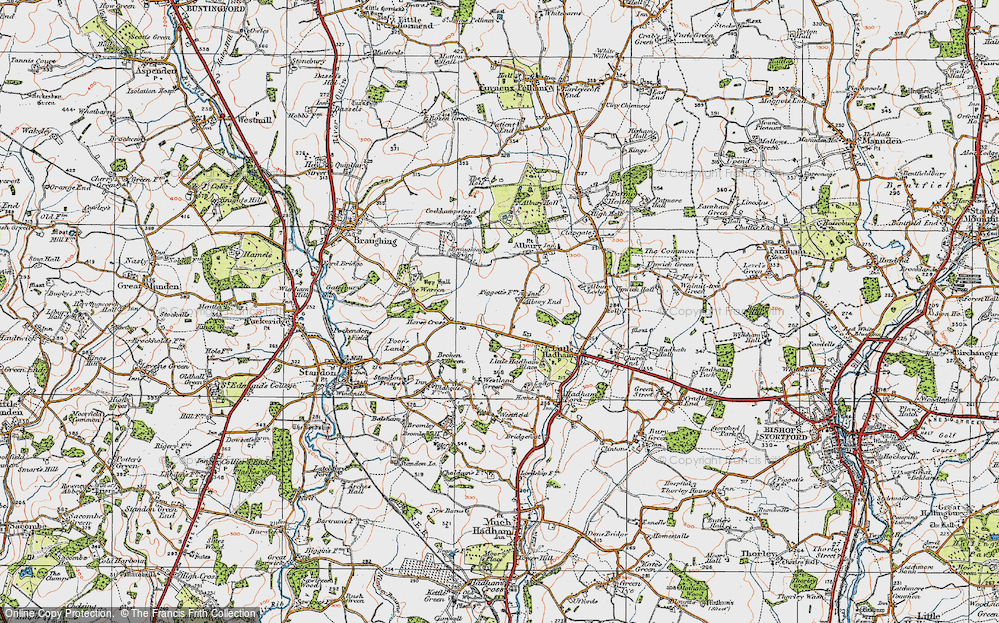 Old Map of Albury End, 1919 in 1919