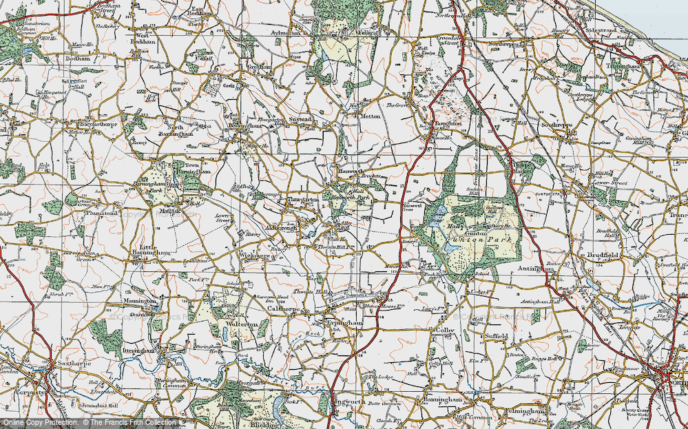 Old Map of Alby Hill, 1922 in 1922