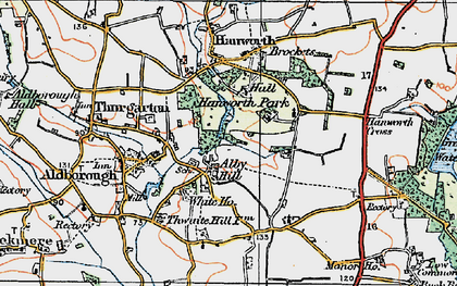 Old map of Alby Hill in 1922