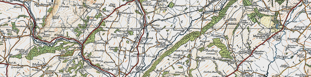Old map of Alcaston in 1920
