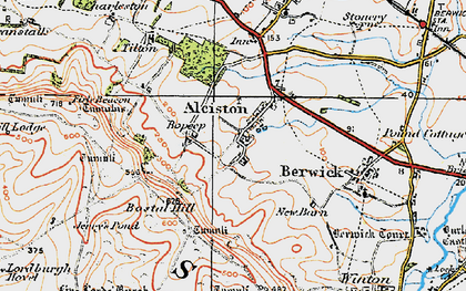 Old map of Alciston in 1920