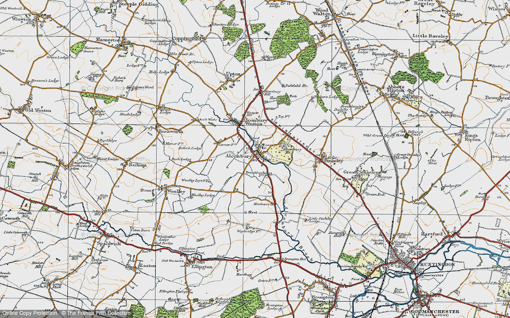 Old Map of Alconbury, 1920 in 1920
