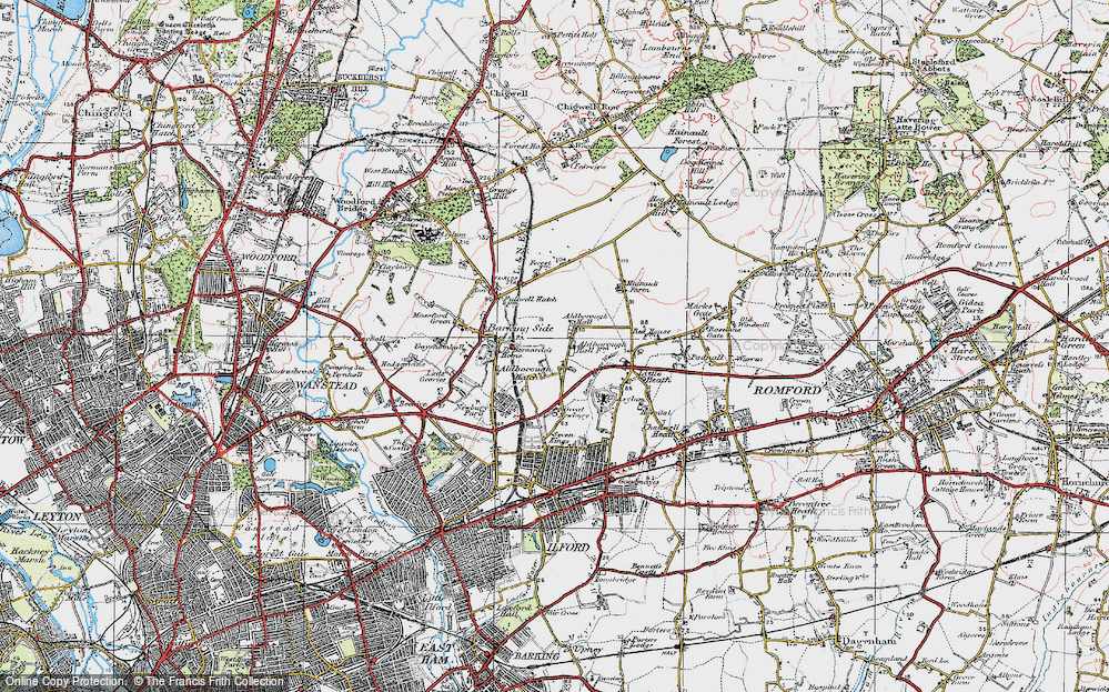 Old Map of Aldborough Hatch, 1920 in 1920