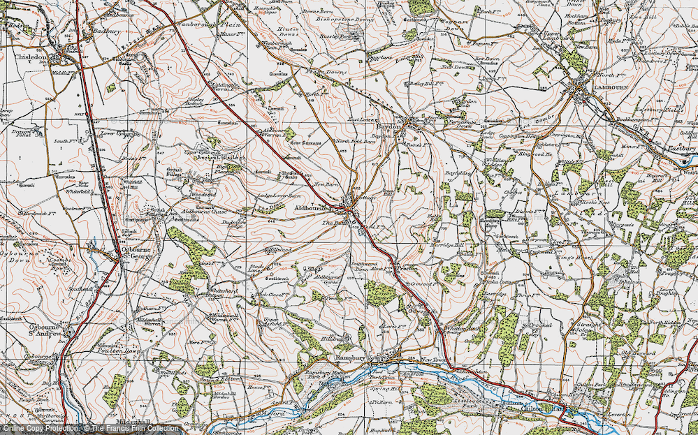 Old Map of Aldbourne, 1919 in 1919