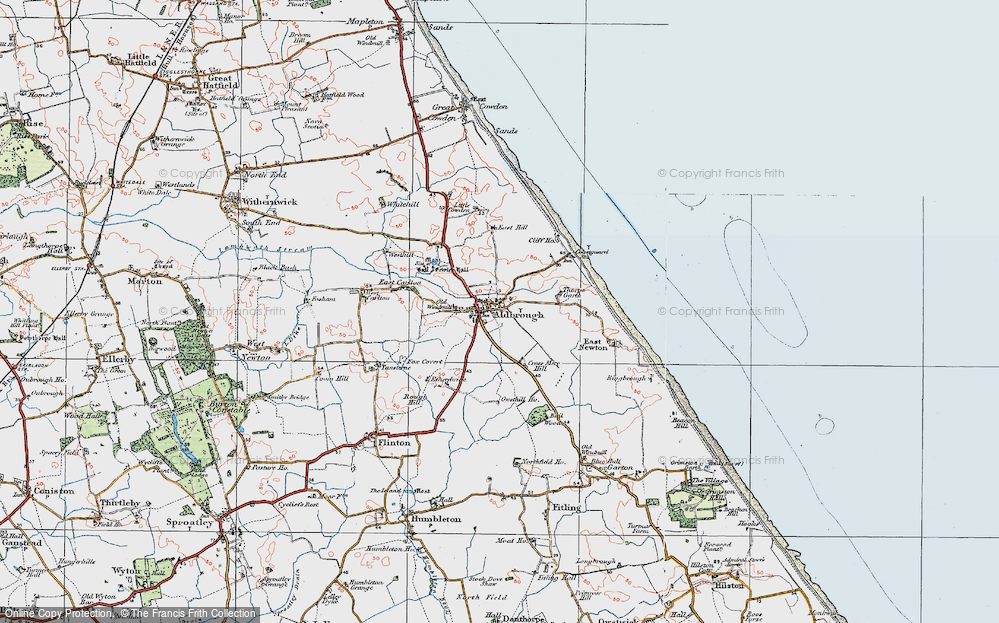 Old Map of Aldbrough, 1924 in 1924