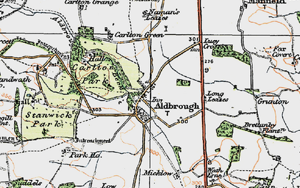 Old map of Aldbrough Beck in 1925