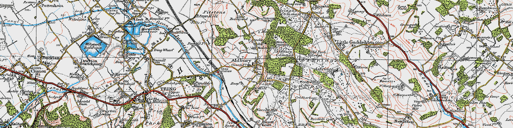 Old map of Aldbury Common in 1920