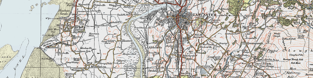 Old map of Aldcliffe in 1924
