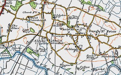 Old map of Aldeby Ho in 1921