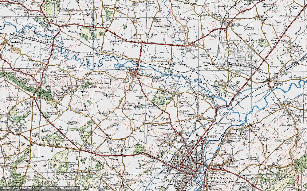 Old Map of Alder Moor, 1921 in 1921