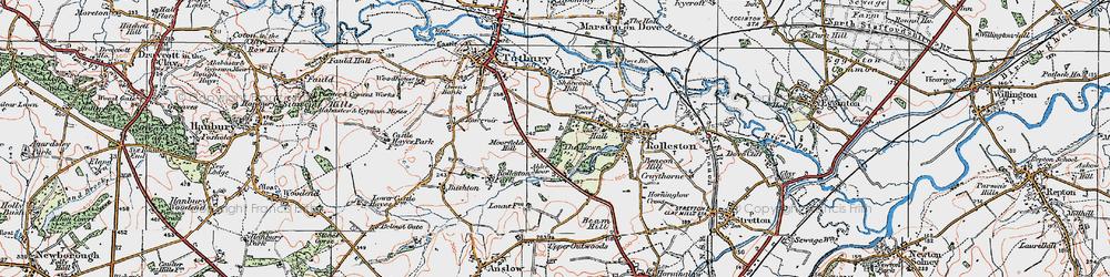 Old map of Alder Moor in 1921