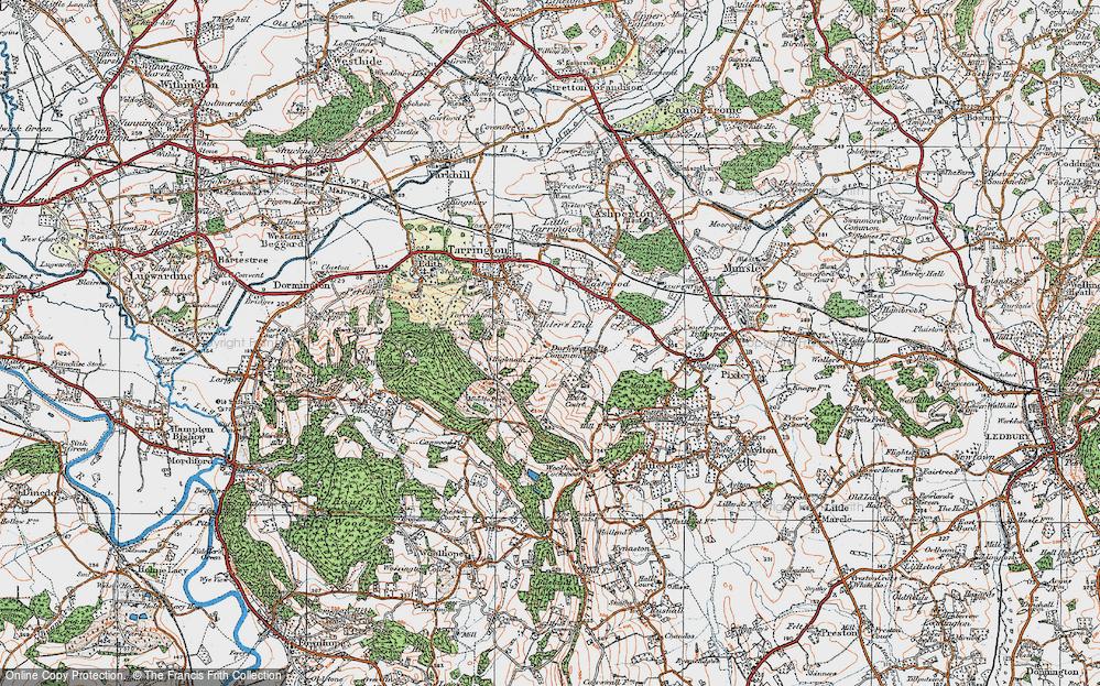 Old Map of Alder's End, 1920 in 1920