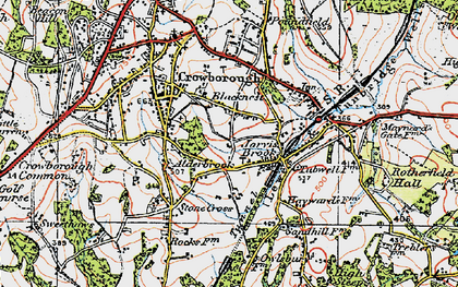 Old map of Alderbrook in 1920