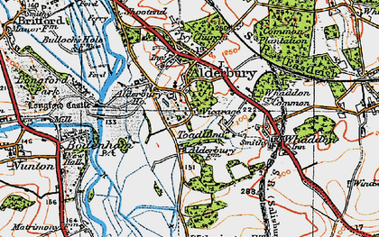 Old map of Alderbury Ho in 1919