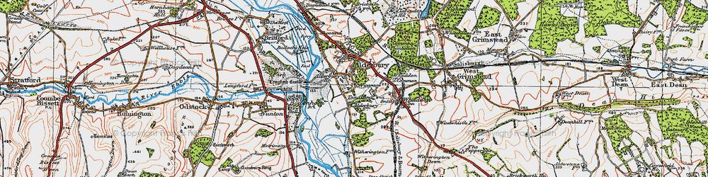 Old map of Alderbury in 1919