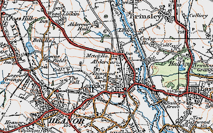 Old map of Aldercar in 1921