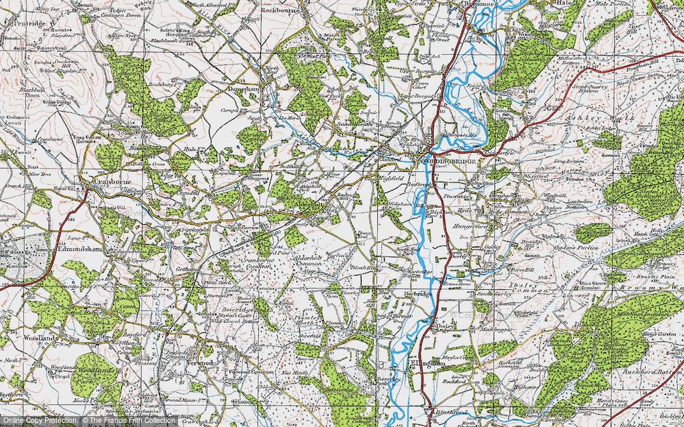 Old Map of Alderholt, 1919 in 1919