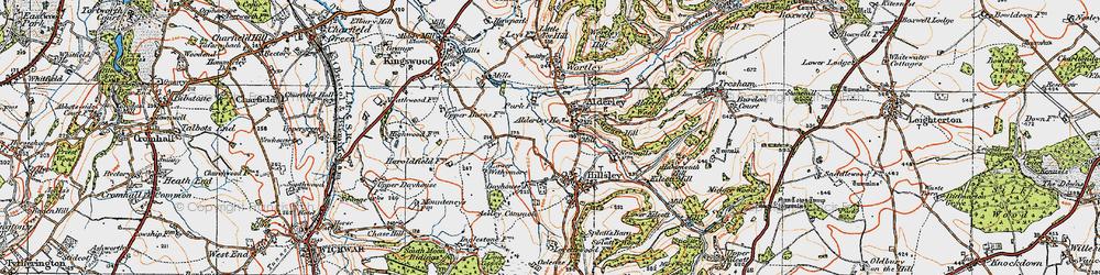 Old map of Alderley in 1919