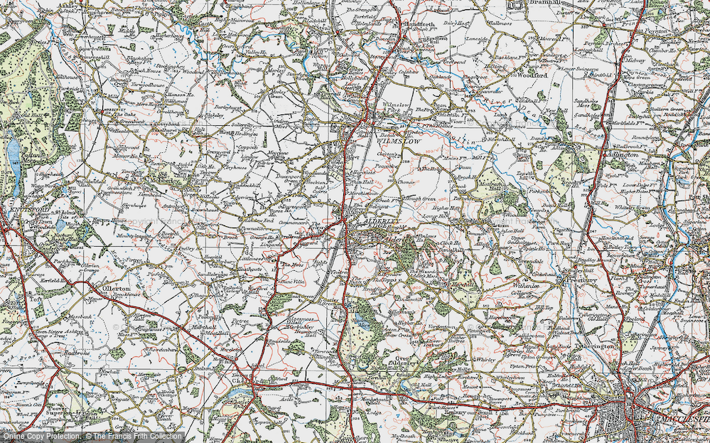 Old Map of Alderley Edge, 1923 in 1923