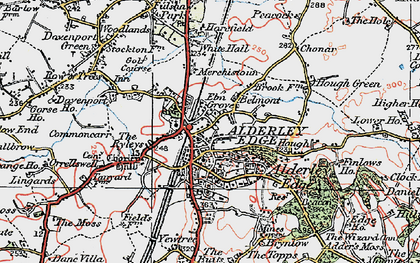 Old map of Alderley Edge in 1923