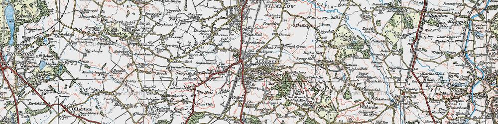 Old map of Alderley Edge in 1923
