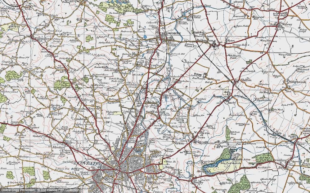 Old Map of Alderman's Green, 1920 in 1920