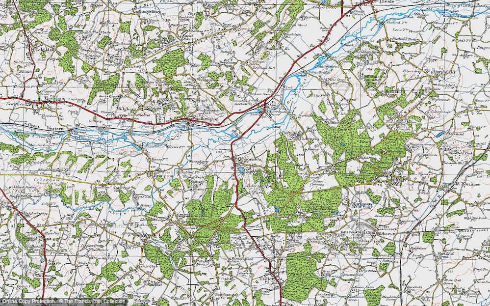 Old Map of Aldermaston, 1919 in 1919