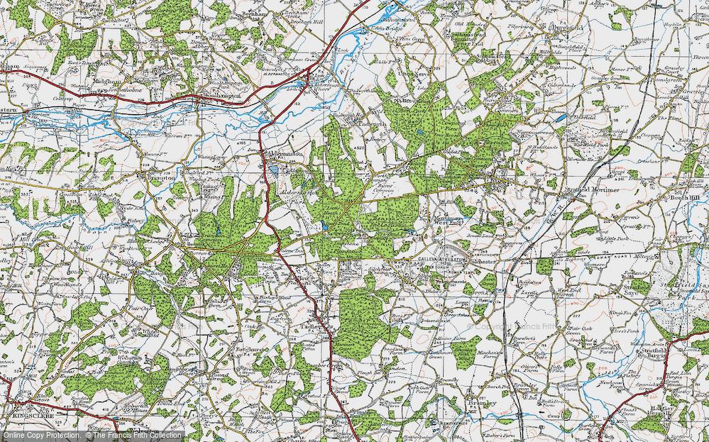 Old Map of Aldermaston Soke, 1919 in 1919